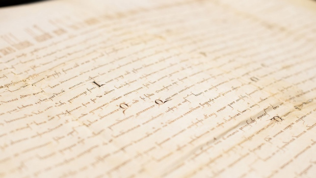 Medieval text obtained by UBC