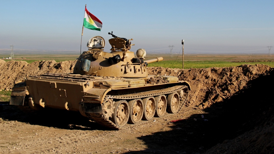 Kurdish peshmerga forces fight ISIS in Iraq