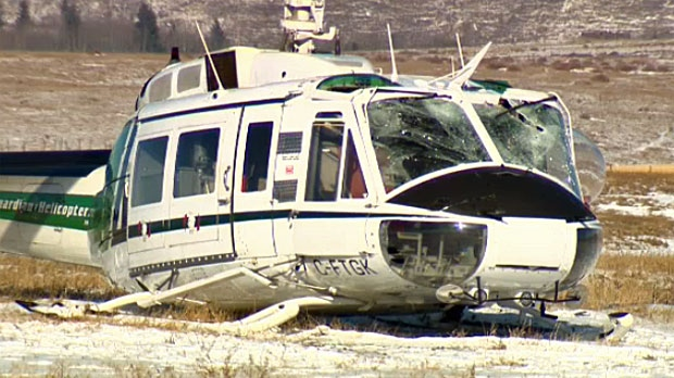 Two men were taken to hospital after a hard landing north of Springbank.