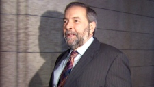 Mulcair avoids questions on NDP spending scandal