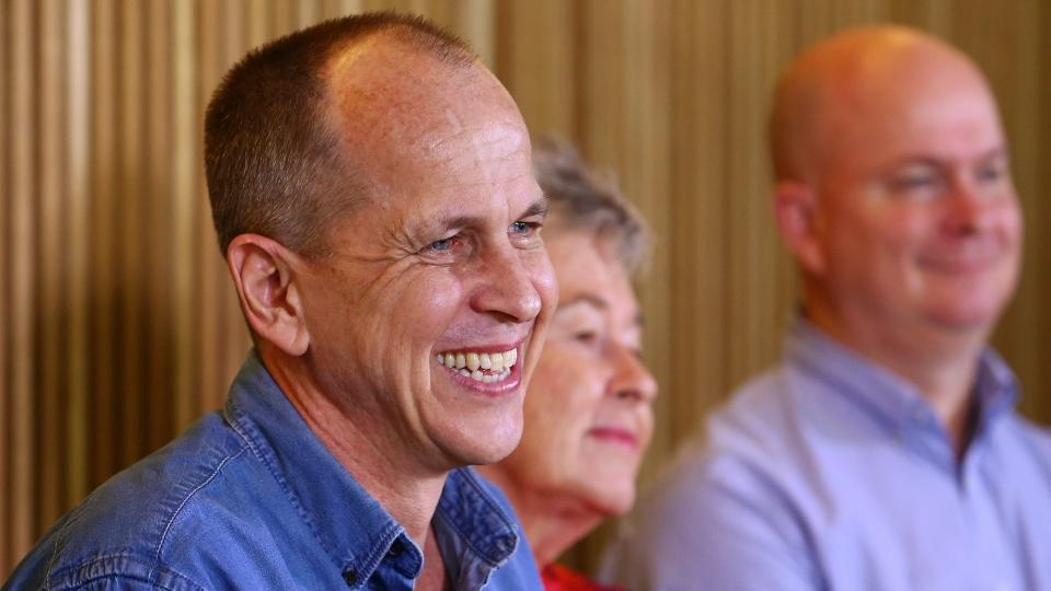 Freed journailst Peter Greste speaks in Brisbane