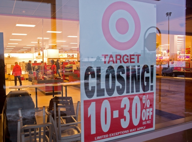 Target Canada closing last stores today