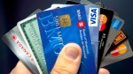 Credit and bank cards are seen in this undated file image.