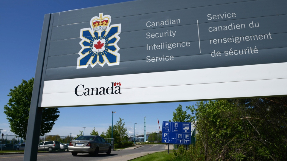 A sign for the Canadian Security Intelligence Service building is shown in Ottawa, Tuesday, May 14, 2013. (Sean Kilpatrick / THE CANADIAN PRESS)