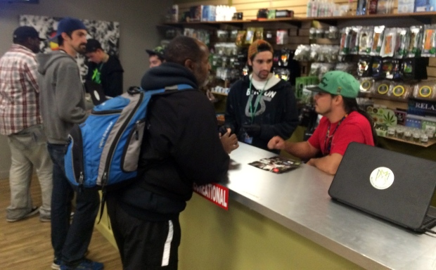 Marijuana counter budtenders