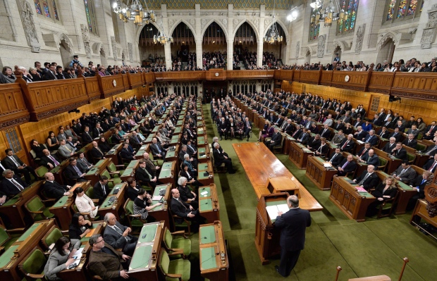 house of commons on parliament hill in ottawa on thursday february