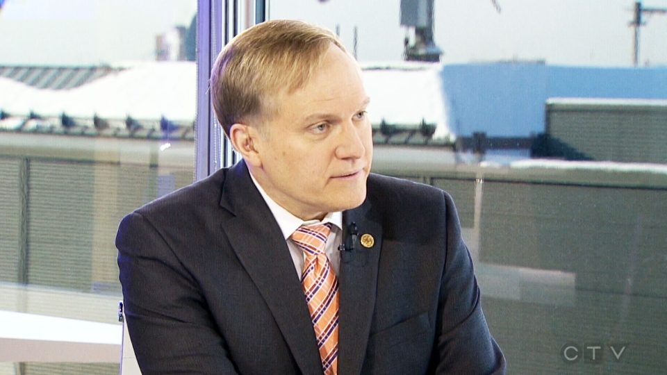Opposition House Leader Peter Julian appears on CTV's Question Period on Sunday, Feb. 8, 2015.