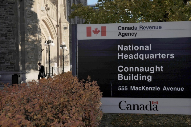 The Canada Revenue Agency headquarters in Ottawa is pictured on Nov. 4, 2011. (Sean Kilpatrick / THE CANADIAN PRESS)