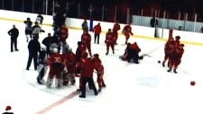 Coxheath, N.S: Coaches Join In As Novia Scotia High School Hockey Game Ends In Brawl