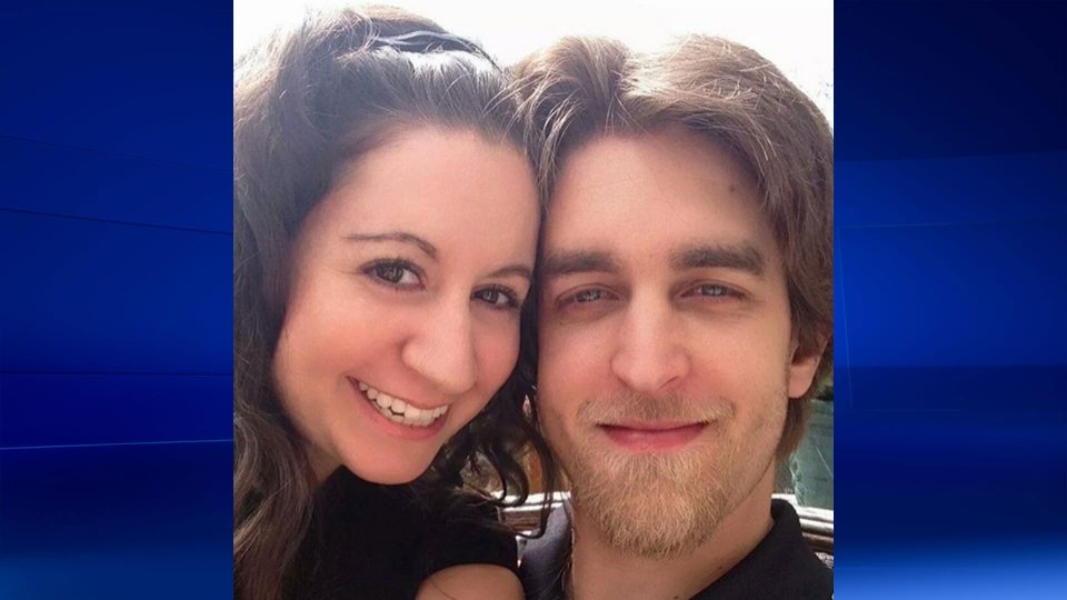 Jenna McNamee and her boyfriend Adam Brunt are shown in this photo provided by McNamee.