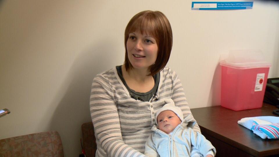 Jillian O'Connor with baby Declan.