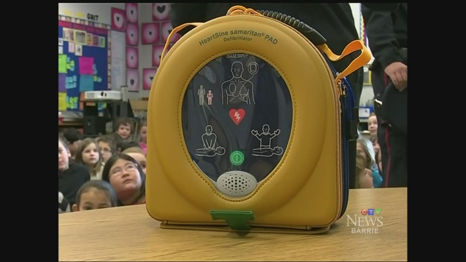 CTV Barrie: Defibrillator donation