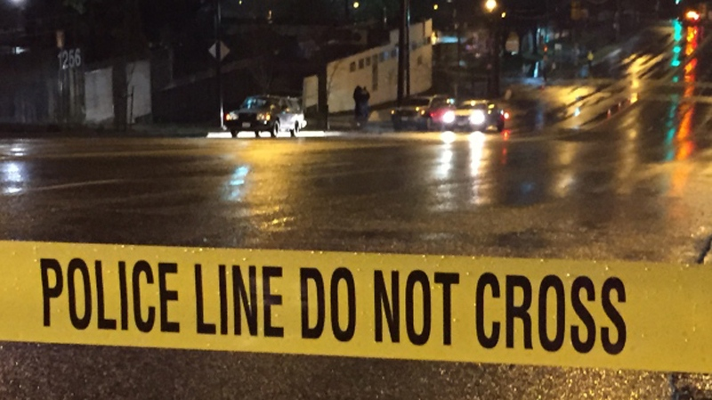 A woman was crossing E 6th Ave at Keith Dr in Vancouver Monday night when she was struck by an SUV. (CTV)