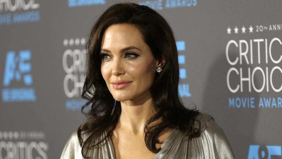 Angelina Jolie arrives at the 20th annual Critics' Choice Movie Awards at the Hollywood Palladium on Thursday, Jan. 15, 2015. (Photo by Matt Sayles / Invision)