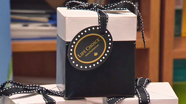The boxes contain two of Life Choice's products and will be included in this year's Oscar swag bags.