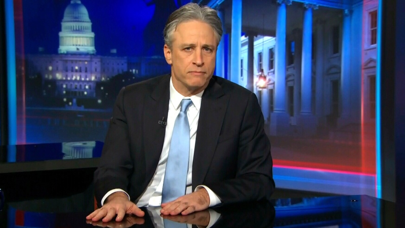 Jon Stewart announces he is stepping down from 'The Daily Show with Jon Stewart' during a taping of his program, Tuesday, Feb. 10, 2015.