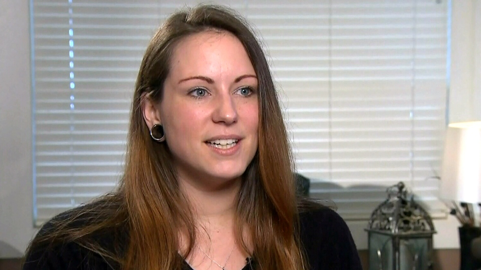 Selina Morrison, from Kelowna, B.C., speaks to to CTV Vancouver, Wednesday, Feb. 12, 2015.