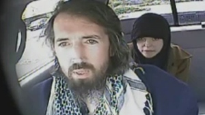 John Nuttall and Amanda Korody are shown in a still image taken from RCMP undercover video. (RCMP)