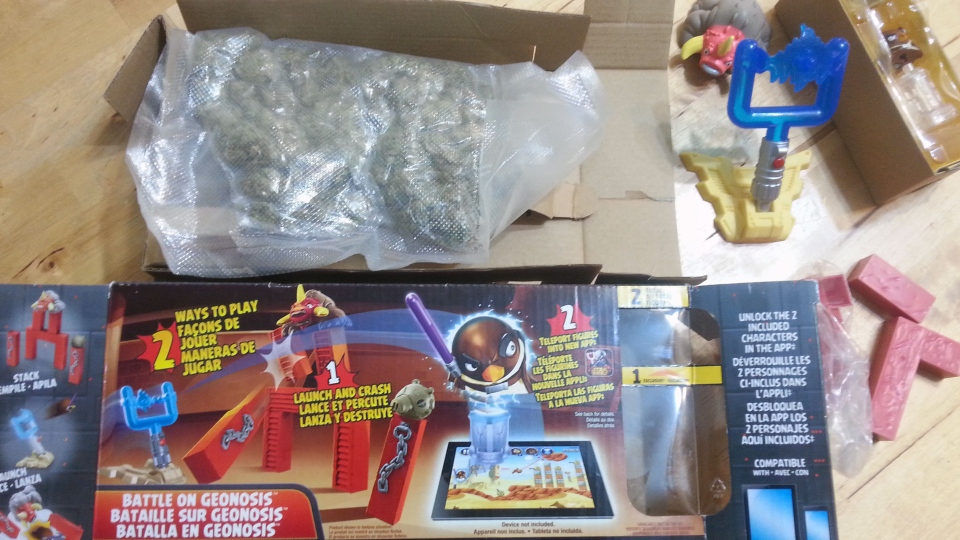 A package of marijuana is shown with a children's toy. (Monika Milewska)