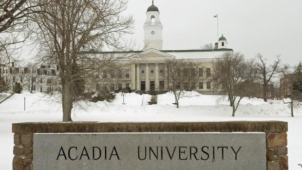 Acadia University is seen in Wolfville, N.S.