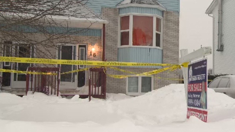 Police entered this home on Tiger Maple Drive in Timberlea, N.S. at around 1:20 a.m. on Feb. 13, where they found the body of a 19-year-old man.