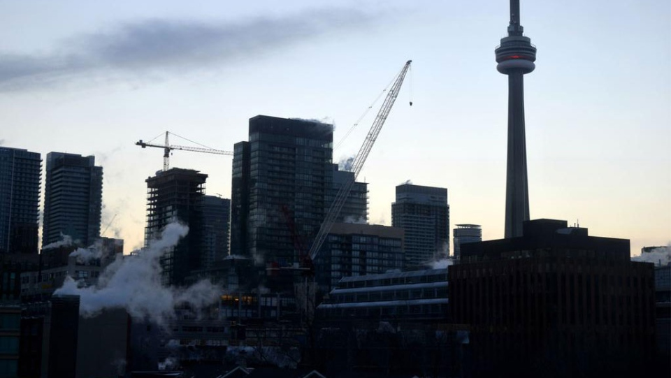 The Toronto skyline is seen on Sunday, Feb. 15, 2015. (Simon Ostler / CTV Toronto)