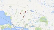 Train derailment in northern Ontario