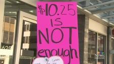 CTV Vancouver: Rally to raise minimum wage