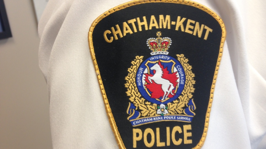 Woman accused of spitting at Chatham police officers
