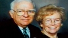 Retired judge Alban Garon, his wife Raymonde