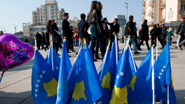 Kosovo pendent flags for sale in Pristina