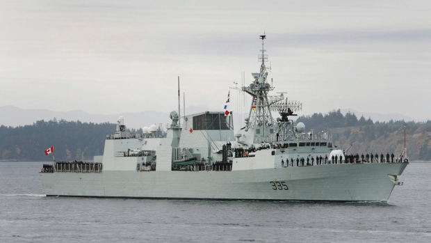 Navy ship spills 30000 litres of fuel east of Nanoose Bay