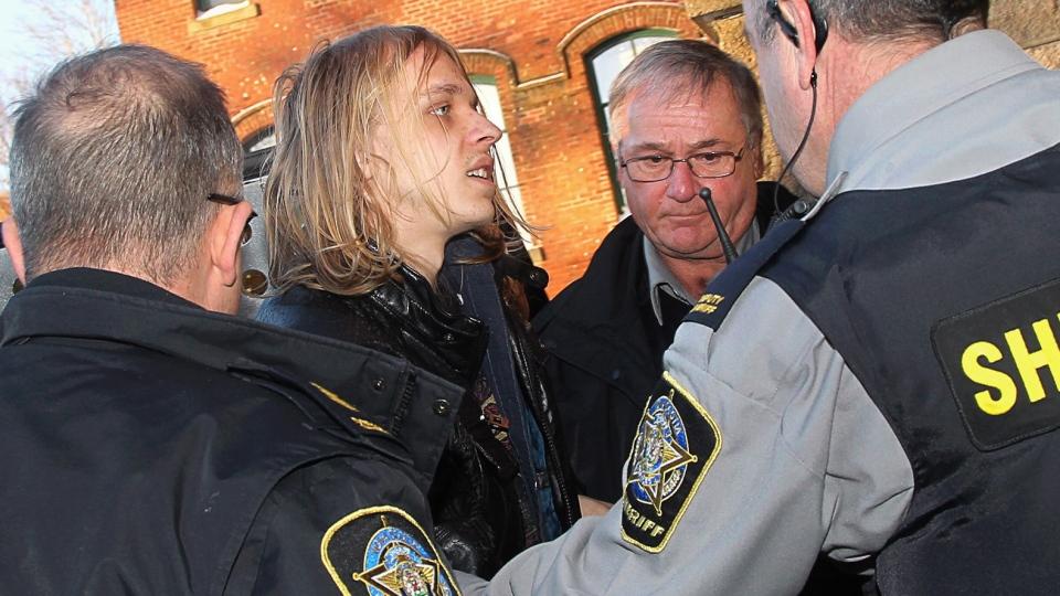 Randall Steven Shepherd arrives at provincial court in Halifax on Tuesday, Feb. 17, 2015. (Tim Krochak / THE CANADIAN PRESS)