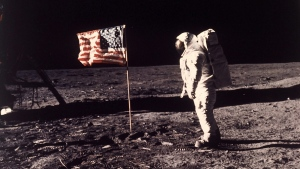 Edwin E. 'Buzz' Aldrin Jr. on the moon