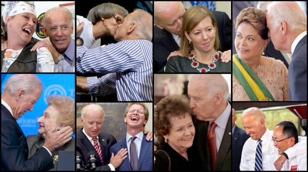 U.S. Vice President Joe Biden may have redefined the term hands-on politics. After being seen cozying up to the incoming Defense Secretary's wife Stephanie Carter, many took to Twitter to ask questions about Biden's touchy-feely approach.