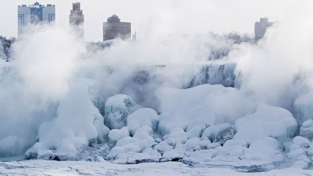 Frozen Niagara Falls offers spectacular view