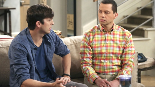 Scene from the series finale of 'Two and a Half Men'