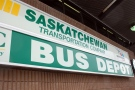 Saskatchewan Transportation Company bus depot in downtown Saskatoon.