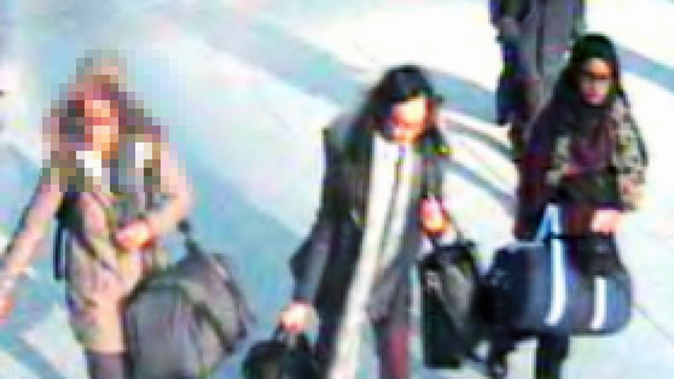 Three British girls, aged 15 to 16, are thought to be travelling to Syria to join Islamic State fighters (Metropolitan Police)