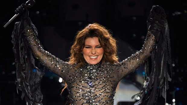 Shania Twain in Charlottetown, on August 30, 2014. (THE CANADIAN PRESS / Andrew Vaughan)