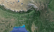 Bangladesh is shown in this screengrab from Google Maps.