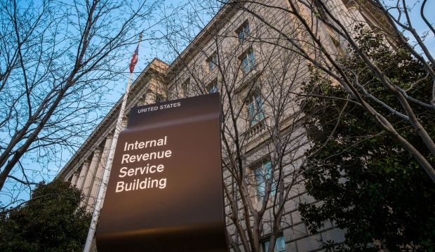 Internal Revenue Services building in Washington