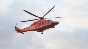 An Ornge helicopter is pictured in this file photo from Sunday, February 26, 2012. (Pawel Dwulit /The Canadian Press)