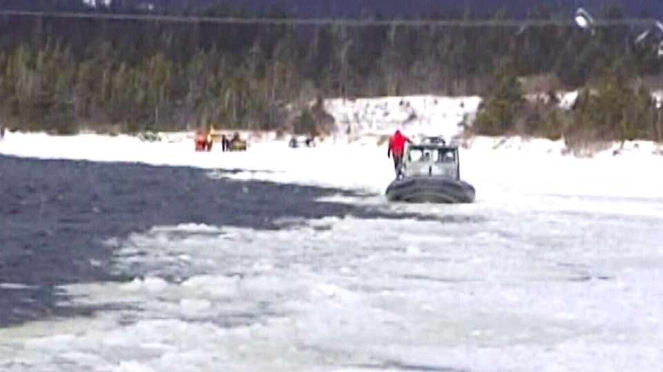 The bodies of two men who were travelling by snowmobile were located Saturday on Newfoundland's Burin Peninsula.