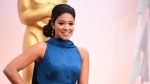 Gina Rodriguez arrives at the Oscars on Sunday, Feb. 22, 2015, at the Dolby Theatre in Los Angeles. (Jordan Strauss / Invision)