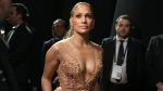 Jennifer Lopez is seen backstage at the Oscars on Sunday, Feb. 22, 2015, at the Dolby Theatre in Los Angeles. (AP / Matt Sayles)