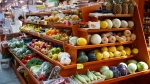 In this April 24, 2014 file photo, a variety of healthy fruits and vegetables are displayed for sale at a market in Washington. (AP /J. Scott Applewhite)