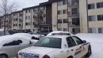 Five children were taken to hospital from this Fort McMurray apartment building at 81 Fraser Avenue Sunday, Feb. 22. Two of them have since died.