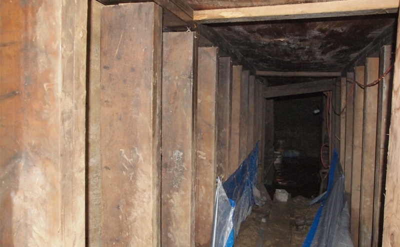 This image released by Toronto police shows the 10-metre bunker