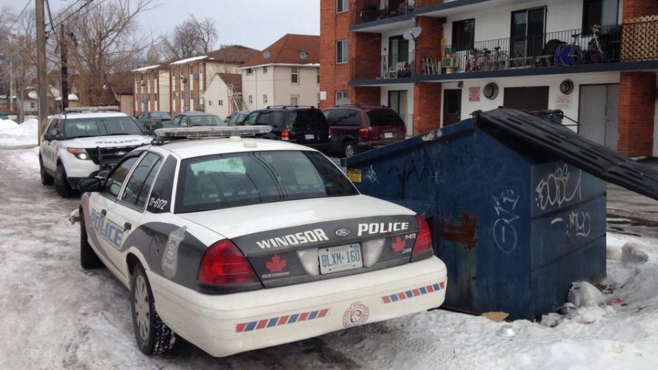 Windsor police are investigating after a homicide on Bruce Avenue in Windsor, Ont., Feb. 24, 2015. (Chris Campbell / CTV Windsor)
